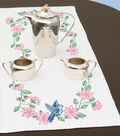 Jack Dempsey Stamped Table Runner/Scarf Bird