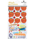 Paper House® Sticky Pix Pack of 49 Flip Pack Stickers-School