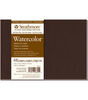 Strathmore Soft Cover Watercolor Journal Book With 48 Pages 8''x5.5'', , hi-res