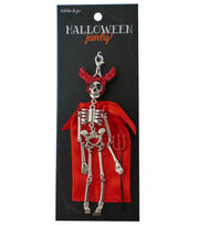 hildie & jo™ Halloween Devil Skeleton Doll Silver Pendant, , hi-res