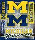 University of Michigan Fat Head Wall Decal-Assorted Logos