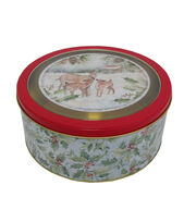 Maker's Holiday Christmas Large Round Clear Top Cookie Container-Deer, , hi-res