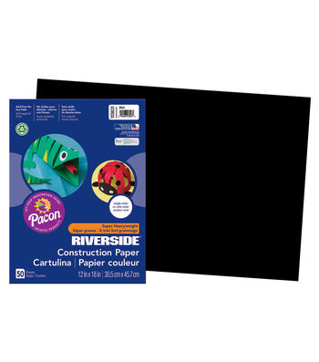 Busy Kids Learning Riverside Construction Paper-Black