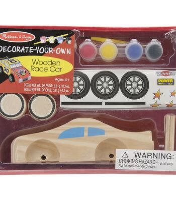 Melissa & Doug Decorate-Your-Own Wooden Race Car-