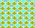 Patty Young Premium Cotton Fabric-French Scallop Teal
