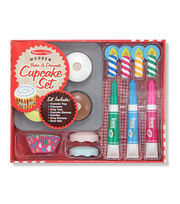 Melissa & Doug Wooden Food Set-Bake & Decorate Cupcakes, , hi-res
