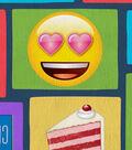 Emoji Fleece Fabric 61\u0027\u0027-Food Block