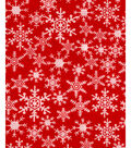 Holiday Showcase™ Christmas Cotton Fabric 43\u0022-Snowflakes Red