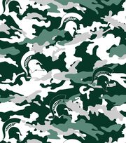 "Michigan State University Spartans Fleece Fabric 60""-Camo, , hi-res"