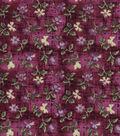 Vintage Cotton Fabric 43\u0022-Mini Tossed Floral Purple