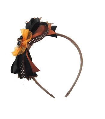 Maker's Halloween Owl Headband with Ribbons