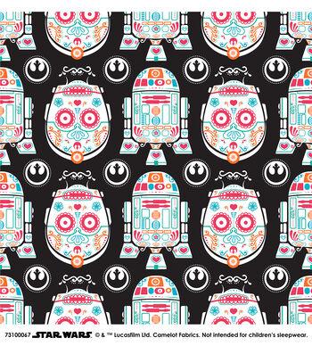 "Star Wars™ Cotton Fabric 44""-Character Sugar Skulls"