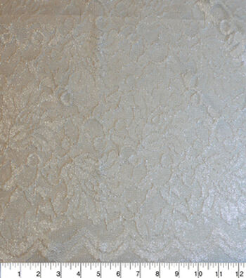 """Casa Collection™ Stretch Lace Fabric 54""""-Snow White"""