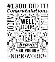 Darice Congrats Collage Embossing Folder, , hi-res