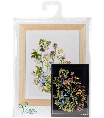 """Herb Panel On Aida Counted Cross Stitch Kit-13.7""""X18"""" 18 Count"""