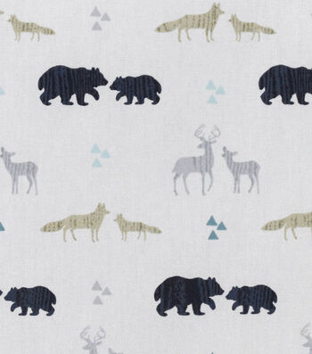 "Nursery Flannel Fabric 42""-Tossed"
