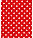Holiday Showcase™ Christmas Cotton Fabric 43\u0027\u0027-White Dots on Red