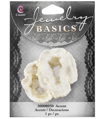 Cousin® Jewelry Basics Geode Accent-White