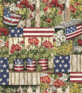 "Susan Winget Cotton Fabric 43""-Color Me Red"