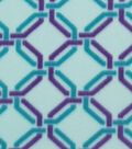 Blizzard Fleece Fabric 59\u0022-Purple Aqua Chain Link