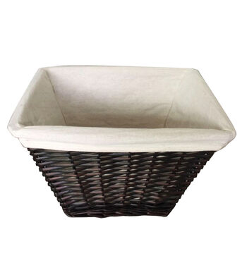 Organizing Essentials™ Rectangle Willow Basket with Liner