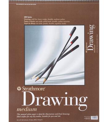 "Strathmore Medium Drawing Paper Pad 18""X24"""