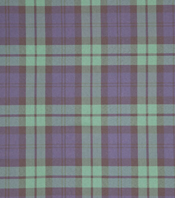 "Sew Sweet Plaid Fabric 57""-Green & Black"
