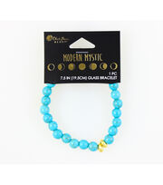 Blue Moon Beads® Modern Mystic Glass Bracelet-Gold & Turquoise, , hi-res