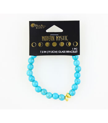 Blue Moon Beads® Modern Mystic Glass Bracelet-Gold & Turquoise