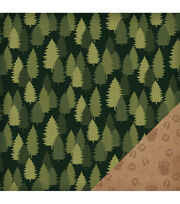 American Crafts Travel Forest Double-Sided Cardstock, , hi-res