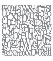 DecoArt Andy Skinner Mixed Media Alphabet Spaghetti Stencil 8''x8'', , hi-res