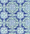 Snuggle Flannel Fabric 42\u0022-Blue Green Medallions