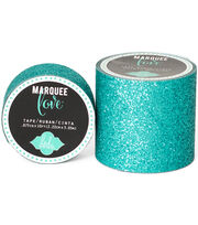 "Heidi Swapp Marquee Love Washi Tape .875""-Teal Glitter, 10', , hi-res"