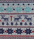 Sweater Fleece Fabric 59\u0022-Winter Blue Stripe