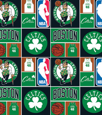"Boston Celtics Cotton Fabric 44""-Patch"