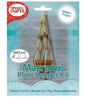 Pepperell Crafts Macramé Plant Hanger Kit