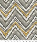 Dena Design Outdoor Fabric 54\u0022-Chevron Charade Slate
