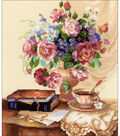 Etude With Flowers Counted Cross Stitch Kit 14 Count