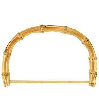 "Bamboo Bag Handle 7"" Half Rnd W/Rod-Nat 1/Pkg"