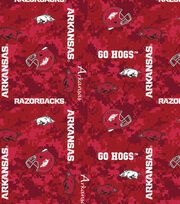 "University of Arkansas Razorbacks Fleece Fabric 60""-Digital, , hi-res"