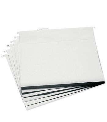 "Cropper Hopper Hanging File Folders 13""x14"" 6/pkg-White"
