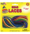 Bead Laces 45\u0022 12/Pkg-Assorted Colors