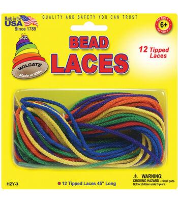 """Bead Laces 45"""" 12/Pkg-Assorted Colors"""