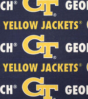 "Georgia Tech Yellow Jackets Canvas Fabric 58""-Logo, , hi-res"