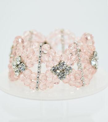 Crystal Diamond Style Bracelet-Light Pink