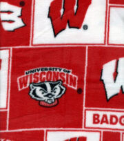 "University of Wisconsin Badgers Fleece Fabric 58""-Block, , hi-res"