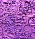 All That Glitters Fabric-Rosette Embroidered  Chiffon Blackberry