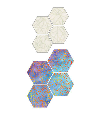 """GO! Fabric Cutting Dies-Paper Piecing Hexagon 1"""" Sides"""