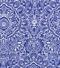 Snuggle Flannel Fabric 42\u0027\u0027-Blue Ink Stamp Print