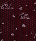 Holiday Showcase™ Christmas Cotton Fabric 43\u0027\u0027-Merry Christmas & Dots on Burgundy